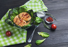 Bowl of chicken meat cutlets Royalty Free Stock Image