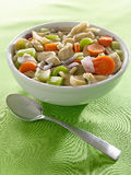 Bowl of chicken noodle soup Stock Photography