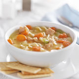 Bowl of chicken noodle soup Royalty Free Stock Photography