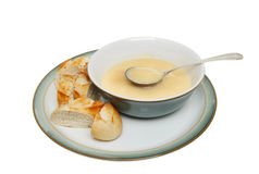 Bowl of chicken soup Stock Images