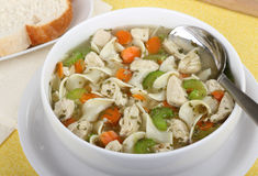 Bowl of Chicken Soup Stock Photo