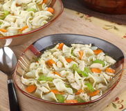 Bowl of Chicken Soup Stock Image