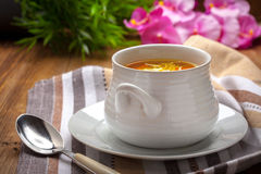 Bowl of chicken soup. Stock Photography