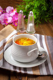 Bowl of chicken soup. Stock Image