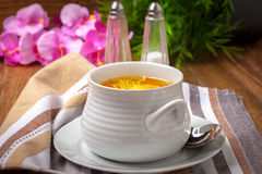 Bowl of chicken soup. Royalty Free Stock Photos