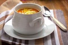 Bowl of chicken soup. Stock Photos