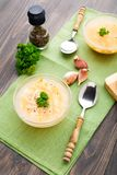 Bowl of chicken soup with vegetables and noodles Stock Photography