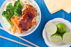 Bowl Of Chicken And Vegetables Royalty Free Stock Photos
