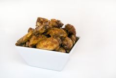 Bowl of chicken wings Stock Photos