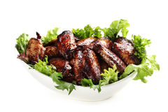 Chicken Wings in Bowl Isolated Stock Photo