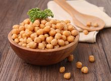 Bowl of chickpea Royalty Free Stock Images