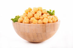 Bowl with chickpea Stock Photography
