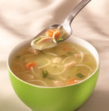 Bowl of chiken soup Stock Photography