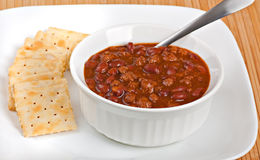 Bowl of Chili stock photography