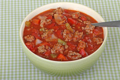 Bowl of Chili Stock Image