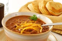 Bowl of chili Stock Photos