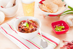 Bowl of chili Royalty Free Stock Images