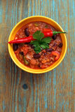 Bowl of chili Royalty Free Stock Photo