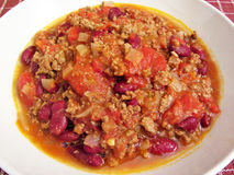 Bowl of Chili royalty free stock photography