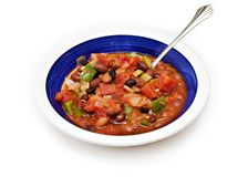 Bowl of Chili with Beans Royalty Free Stock Photos