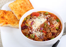 Bowl of Chili with Beans Stock Photography