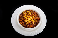 Bowl of Chili with Beef Beans and Cheese Royalty Free Stock Photography