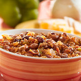Bowl of chili closeup Royalty Free Stock Photo