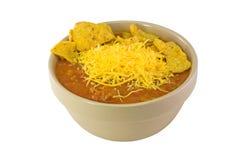 bowl chili white Στοκ εικόνα με δικαίωμα ελεύθερης χρήσης