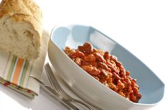 Bowl of Chilli Stock Photo