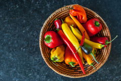 Bowl of chillies Royalty Free Stock Photo