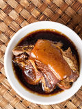 Bowl of chinese braised pork Royalty Free Stock Image