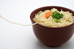 Bowl of Chinese noodles Stock Images