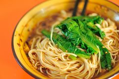 Bowl of chinese noodles Royalty Free Stock Photos