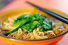 Bowl of chinese noodles royalty free stock photography