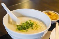 Bowl of Chinese Porridge Closeup Stock Images