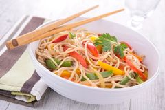 Bowl of chinese soup Royalty Free Stock Photos