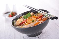 Bowl of chinese soup Stock Image