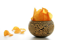 A bowl of chips Royalty Free Stock Photography