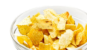Bowl with chips Royalty Free Stock Photography
