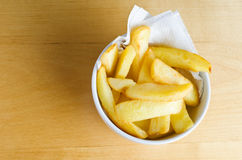 Bowl of Chips from Above Royalty Free Stock Photo