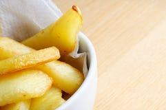 Bowl of Chips Close Up Stock Photos