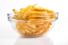 Bowl of Chips Royalty Free Stock Image