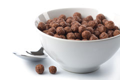 Bowl with chocolate balls isolated Royalty Free Stock Photos