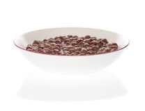 Bowl of chocolate cereal Stock Image