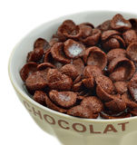 Bowl of chocolate cereals Royalty Free Stock Image