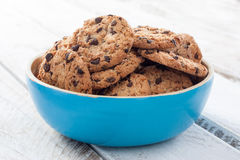 Bowl with chocolate cookies Royalty Free Stock Photography