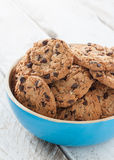Bowl with chocolate cookies Royalty Free Stock Photo