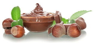 Bowl of chocolate cream Royalty Free Stock Photo