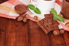 Bowl of chocolate cream Royalty Free Stock Images