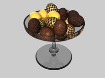 Bowl of chocolate eggs Stock Photo